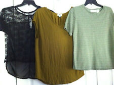 Lot Of 3 Women's Clothing Old Navy Poof Alfred Dunner Tops Black Lace Size S