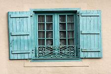 Splendido francese FINESTRA PERSIANE IN PROVENZA #823 foto su tela Wall Art A1