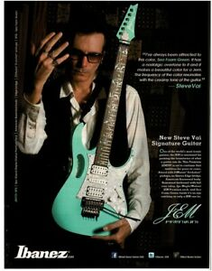 2012 IBANEZ JEM Electric Guitar sea foam green STEVE VAI Vintage Ad