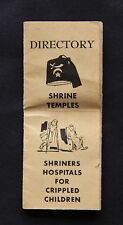 Vintage Directory of Shrine Temples and Shriners Hospitals for Crippled Children