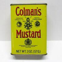 Vintage 80s Colman's Mustard 2 oz. Metal Spice Jar Tin Full