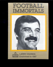 1985 Immortals LARRY CSONKA Miami Dolphins Hall of Fame Card