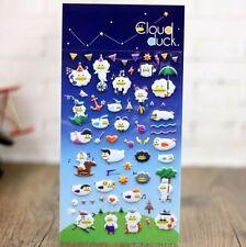 FD4495 □ Korea Design Cloud Duck 3D Bubble Sticker for Diary Reward Mobl