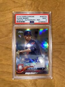 2018 Topps Chrome Shane Bieber RC Rookie Auto Update Silver Refractor PSA 9 MINT