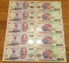 1 MILLION DONG BANKNOTE = 5 x 200,000 200000 DONG VIETNAM CURRENCY  USED