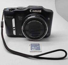 Canon PowerShot SX160 IS Digital Camera PC1816 Black (Broken Snap Button) 1b