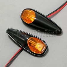 Mini Black Universal Motorcycle LED Turn Signal Indicator Blinker Yellow Light