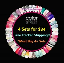 Color Street Nail Polish Strips ~ 4 Sets for $34 ~ Free Tracked Shipping. Buy 4+