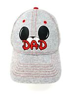 Disney Mickey Mouse Dad Hat Baseball Cap Embroidered Gray Red Cotton