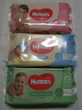 """HUGGIES """"Skin Loving Natural Fibres"""" Baby Wipes 56 Towelettes per 1 Package"""