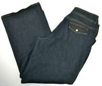 Jones New York Signature Woman Plus Size Wide Leg Blue Jeans 16W