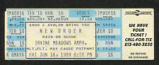 1989 New Order Unused Full Concert Ticket Irvine Meadows Amphitheatre Technique
