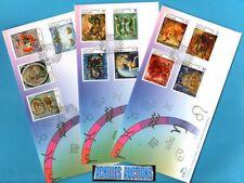Zodiac 2007, Leo Aries Cancer Taurus Virgo Libra Virgo Scorpio Pisces, 3 FDC's