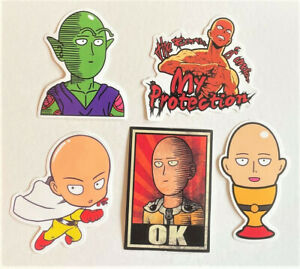 One-Punch Man Skateboard/Laptop Stickers (5 PACK) Ships from U.S.! (#20)