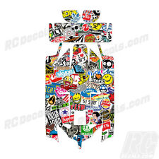 Losi 8IGHT 2.0 RC Graphic Kit Decal Wrap 1/8 Buggy Body Sticker Bomb