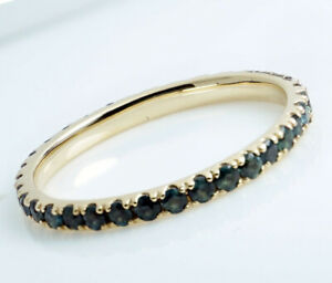 R334 Genuine 9K or 18K Gold Natural Sapphire 1.00ct Full Eternity Wedding Ring