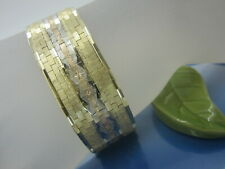 Armband 585 Gelbgold / 19,3 cm x 21,2 mm / Gew. 58,0 Gramm/ Tricolor Massiv Gold