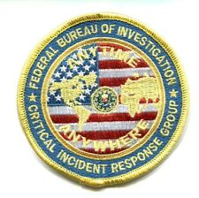 FEDERAL BUREAU INVESTIGATION FBI CRITICAL INCIDENT RESPONSE GROUP (CIRG) PATCH