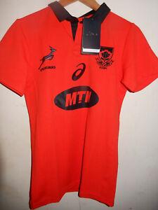 Springboks South Africa Alternate Red Replica Rugby Shirt 2017/18 BNWT Asics S