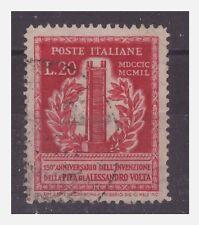 VOLTA  1949  -  LIRE  20  dent 13 1/4   USATO