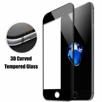 BLACK 3D Full Cover Tempered Glass Screen Protector For iPhone 6/6S