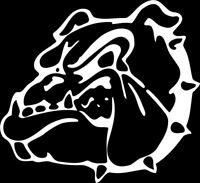 Bulldog #2 1 Color Window Wall Vinyl Decal Sticker Printed Mascot Graphic