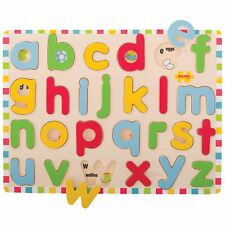 Bigjigs Toys Wooden Inset Puzzle - Lowercase Alphabet - From 3 Years