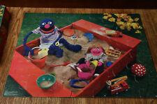 Sesame Street Puzzle 1985 Complete Grover Sandbox Milton Bradley 35 Pieces Rare