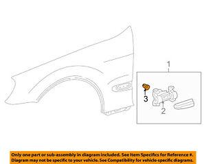 MERCEDES OEM EXTERIOR TRIM-QUARTER PANEL-Body Side Molding Fastener 0019887681