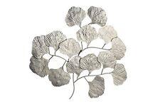 Wanddeko Gingo-Blätter silberfarben by ARBD