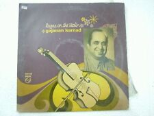 GAJANAN KARNAD RAGAS ON THE VIOLIN  1974 LP CLASSICAL INSTRUMENTAL INDIA ex
