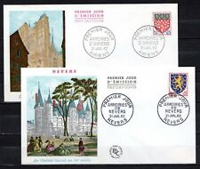 France - 1962 Definitives Coats of Arms -  Mi. 1406-07 FDC