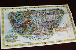 Disneyland Map Walt Disney Archives 1964 2003 Edison Square Authorized Facsimile