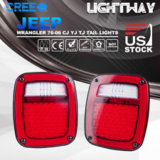 Led Tail Lights Rear Lamps Reverse Brake Turn Signal 76-06 Jeep Wrangler Tj Cj
