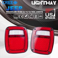 LED Tail Lights Rear Lamps Brake Turn Signal Reverse Jeep Wrangler TJ CJ 76-06