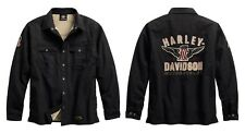 Harley-Davidson#1 Genuine Classics Shirt Hemd Jacke Gr. 3XL - Schwarz, Herren