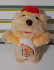 K.K.K TEDDY BEAR 1986 S ON TUMMY RED HAIR ORANGE PLUSH TOY SOFT TOY! NAME????