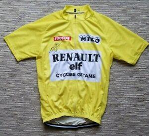 Renault Elf Tour de France Yellow Cycling Jersey - Signed by Bernard Hinault