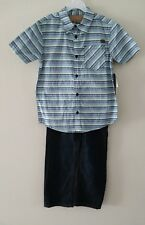 Lee Boy's 2-PC SET Striped Shirt and Blue Jeans Size: XL(7) BRAND NEW!!