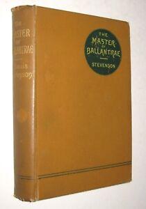 Robert Louis Stevenson The Master of Ballantrae  Early edition 1891