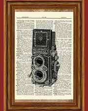 Vintage Camera Antique Rolleiflex Photography Film Dictionary Art Print Book