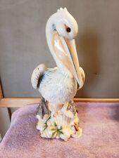 Fitz & Floyd Seaboard Pelican Figurine Statue Centerpiece ~ Repaired ~ Fs