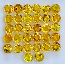 Natural Yellow Sapphire Round Cut 3 mm Lot 15 Pcs Calibrated Loose Gemstones