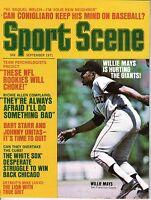 1971 (Sep.) Sport Scene Baseball magazine, Willie Mays, San Francisco Giants ~VG