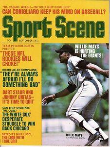 1971 Sport Scene Baseball magazine Willie Mays San Francisco Giants White Sox VG