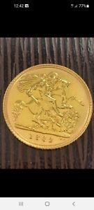 SUPERB CONDITION 22CT GOLD 1982 HALF SOVEREIGN