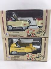 Lot Of 2 Golden Wheel - Pedal Power 1:10 Scale Die Cast Metal Pedal Driving Cars