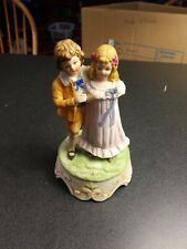 "vintage Lefton wind up musical figurine Made in Japan. ""You light up my life"""