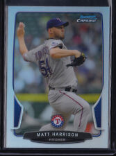 2013 BOWMAN CHROME MATT HARRISON REFRACTOR PARALLEL #99 RANGERS