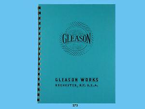 "Gleason 12"" Straight Bevel Gear Generator Parts List Manual  *375"